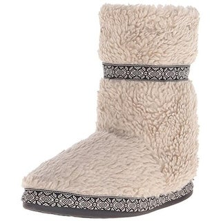 Woolrich Womens Whitecap Bootie Slippers Berber Fleece Ankle - 6 medium (b,m)