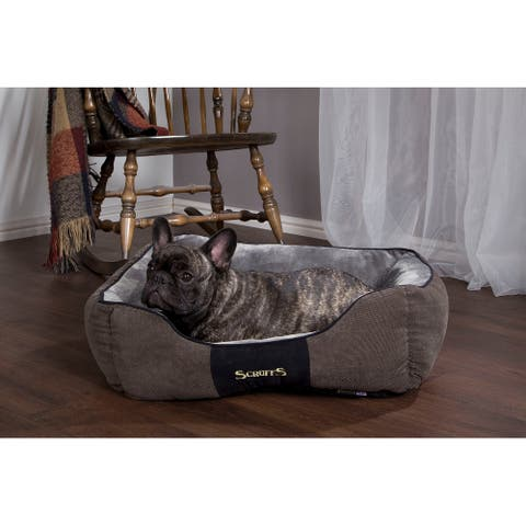 Scruffs Chester Box Dog Bed - Graphite Grey