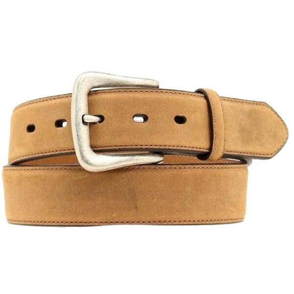 Nocona Western Belt Mens Smooth Leather Basic Stitch Tan