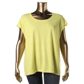 Eileen Fisher Womens Knit Hi-Low Casual Top - M
