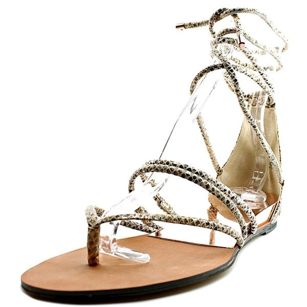 Vince Camuto Adalson Women Open Toe Suede Gold Gladiator Sandal