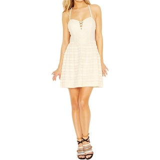 Guess Womens Juniors Casual Dress Lace A-Line