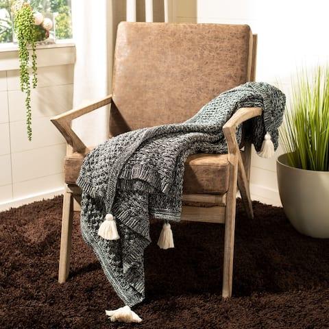 "SAFAVIEH 50"" x 60"" Pennie Knit Tassel Throw"