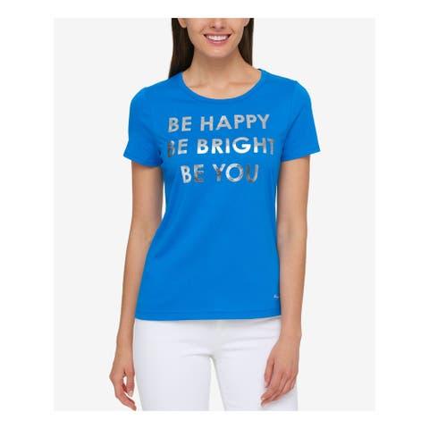 TOMMY HILFIGER Blue Short Sleeve T-Shirt Top XL