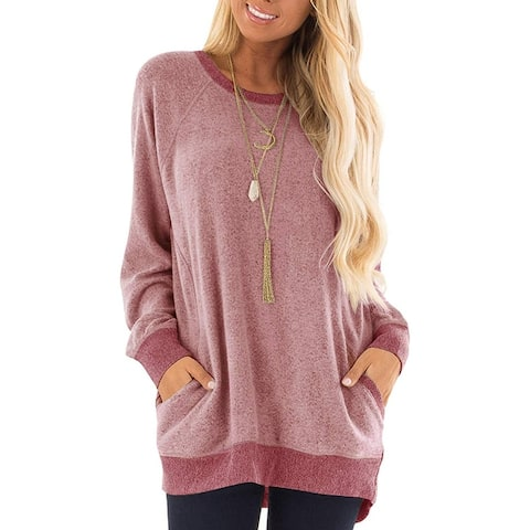 Women's long sleeve Pullover Ultra Soft Sweatshirt