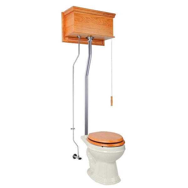 High Tank Toilets Light Oak Flat Tank Round High Tank Toilet