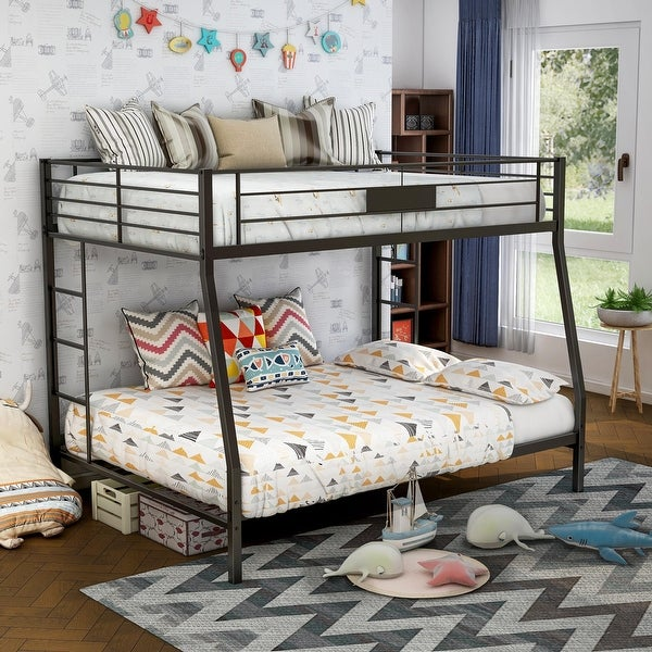 Furniture of America Tic Contemporary Black Metal 2-tier Bunk Bed. Opens flyout.