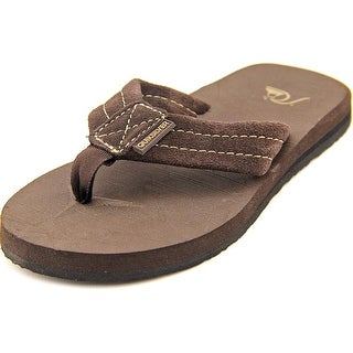 Quiksilver Carver Youth Open Toe Suede Brown Thong Sandal