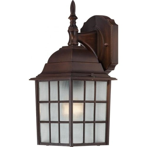Nuvo Lighting 60/4905 Adams Single-Light Wall Lantern with Frosted Glass Panels