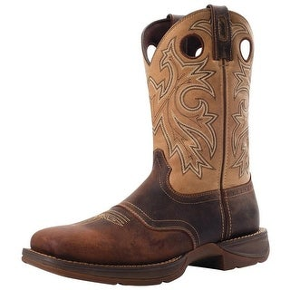 "Durango Western Boots Mens 11"" Rebel Saddle Up Square Toe Brown"