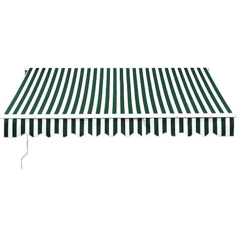 MCombo 12x10 Feet Manual Retractable Patio Door Window Awning Sunshade Shelter Outdoor Canopy