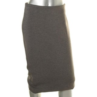 Kiind Of Womens Heathered Banded Straight Skirt - M