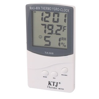 TA368 Plastic Indoor Outdoor LCD Display Digital Thermometer Hygrometer