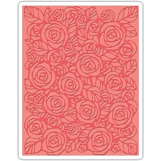 Sizzix Texture Fades A2 Embossing Folder-Roses By Tim Holtz