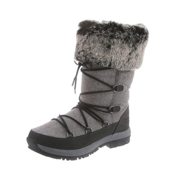 Bearpaw Boots Womens Leslie Snow Leather Waterproof Faux Fur
