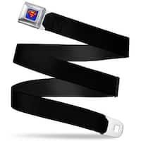 Superman Full Color Blue (W10200) Black Webbing Seatbelt Belt Fashion Belt