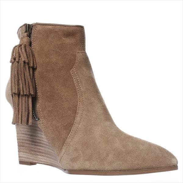 f390169ab Shop Nine West Retrolook Wedge Western Boots, Taupe - On Sale - Free  Shipping Today - Overstock - 14012088