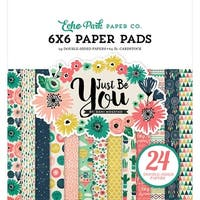 """Echo Park Double-Sided Paper Pad 6""""X6"""" 24/Pkg-Just Be You"""