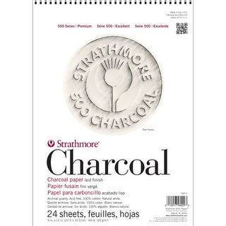 """Strathmore - Charcoal Paper Pad - 500 Series - White - 9"""" x 12"""""""