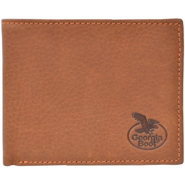Georgia Wallet Mens Bifold Overlay Feathered Light Brown - One size