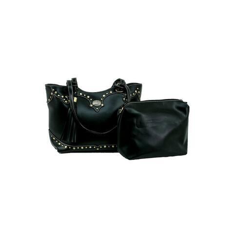 Bandana Western Handbag 2 in 1 Crossbody Tote Faux Leather - One Size