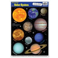"Club Pack of 120 Colorful Peel 'N Place Solar System Decorations 12"" x 17"" - Multi"