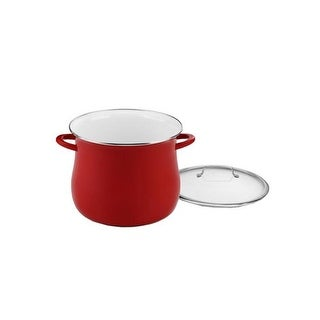 """""""Cuisinart 16 quart Stockpot with Cover - Red Stock Pot"""""""