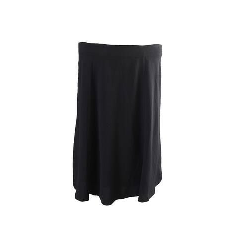 Alfani Black Crepe A-Line Skirt 8