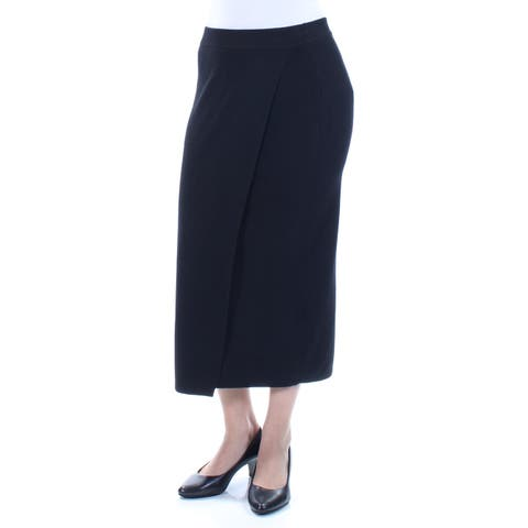 GUESS Womens Black Midi Pencil Wear To Work Skirt Size: S