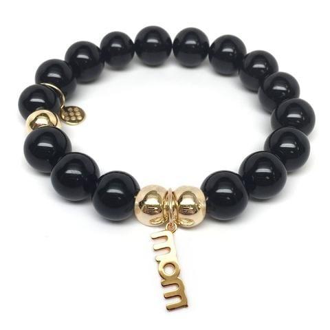 Julieta Jewelry Mom Charm Black Onyx Bracelet