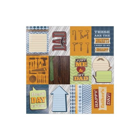 0730e paper house paper 12x12 dad tags