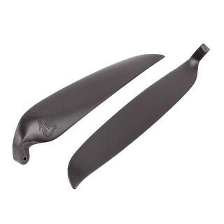 Pair Black Plastic Folding Propeller Vanes 10x8Inch for Glider Plane Brush Motor