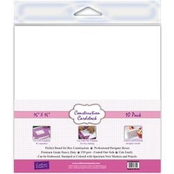 """White - Crafter's Companion Construction Cardstock 16""""X16"""" 10/Pkg"""
