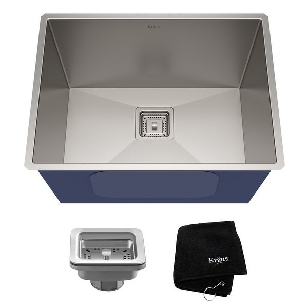 KRAUS Pax Stainless Steel 24 inch Undermount Laundry Utility Sink