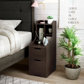 Link to Kendrick Contemporary Multi-storage Nightstand Similar Items in Bedroom Furniture