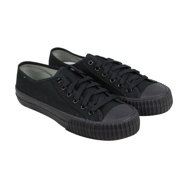 740e2df1939a82 Shop PF Flyers Cntr Lo Sandlot Mens Black Canvas Lace Up Sneakers ...