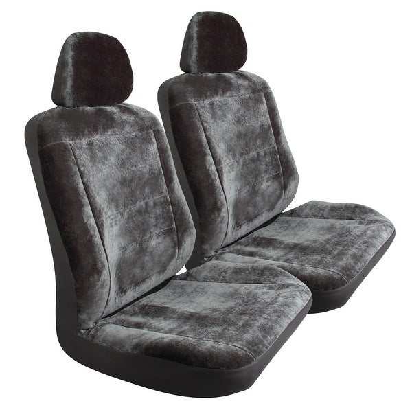 Pilot Automotive SC-417G Grey Royal Velvet Seat Cover (Pack of 3)