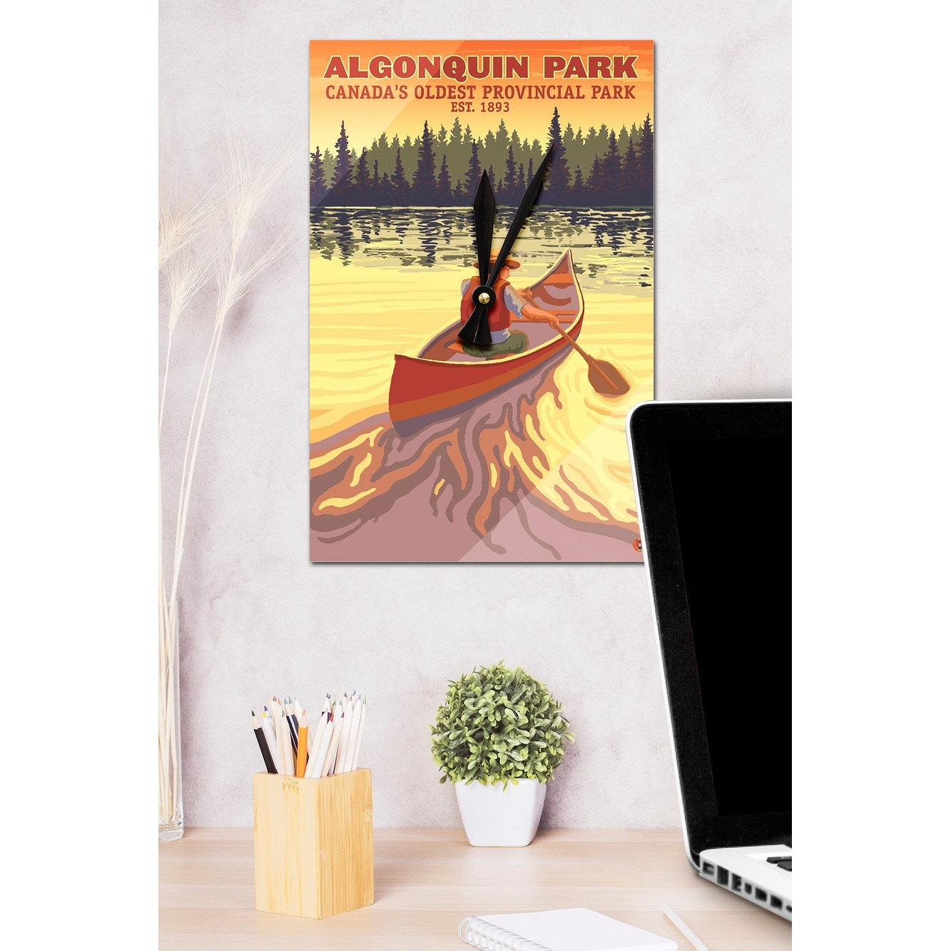 Shop Algonquin Provincial Park Ontario Canada Lantern Press Artwork Acrylic Wall Clock Acrylic Wall Clock Free Shipping On Orders Over 45 Overstock 13598817