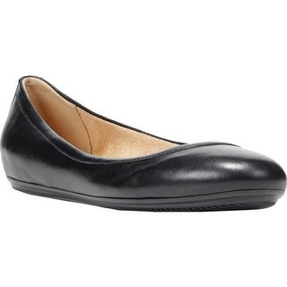 Naturalizer Women's Brittany Ballet Flat Black Leather