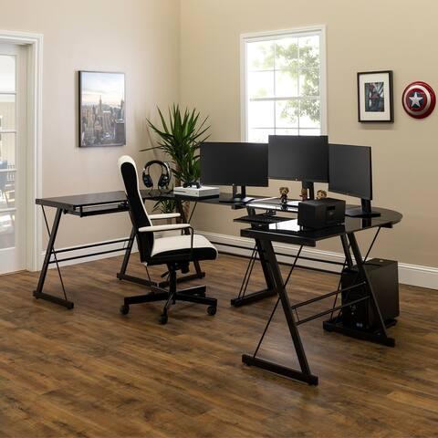 Porch & Den Hardy Gaming Command Center Desks