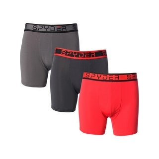 Spyder Mens Boxer Briefs 3 Pack Performance