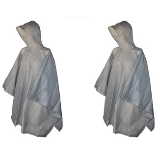 Totes Hooded Pullover Rain Poncho with Side Snaps (Pack of 2) - One size (Option: Grey)