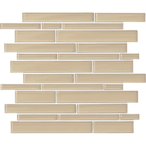 Daltile AMLNRANMSL Amity - Random linear Mosaic Wall Tile - Smooth Glass Visual