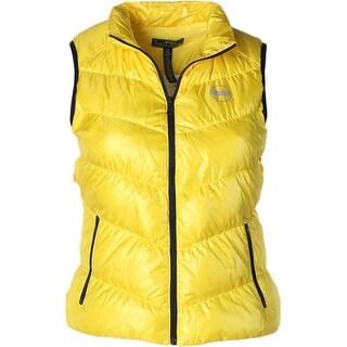 L-RL Lauren Active Womens Outerwear Vest Reflective Puffer