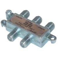 Offex F-pin Coaxial Splitter, 4 Way