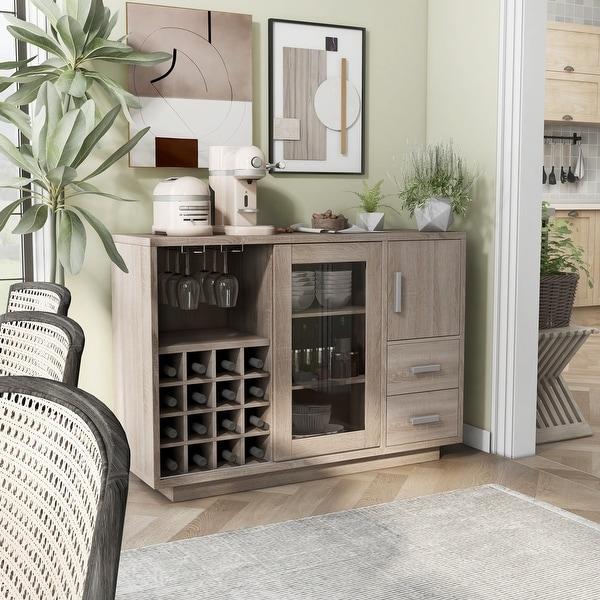 Furniture of America Diz Modern 47-inch Wine Bar Dining Server. Opens flyout.