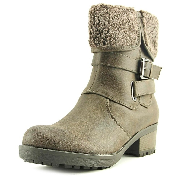 White Mountain Bandwagon Women Dark Taupe Snow Boots