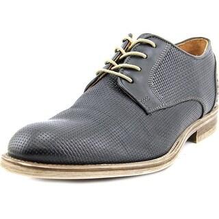 Giorgio Brutini Ezey Men Cap Toe Leather Black Oxford