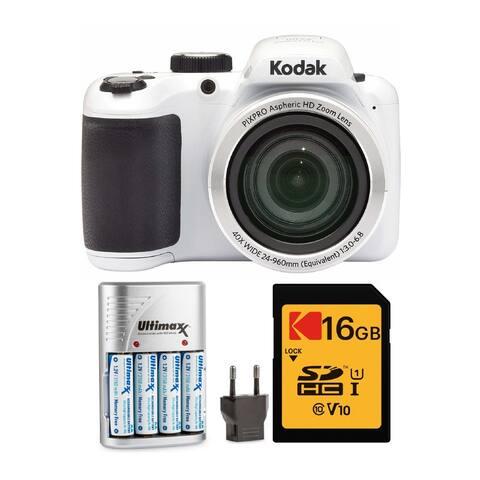 Kodak PIXPRO AZ401 Astro Zoom Digital Camera (White) Accessory Bundle