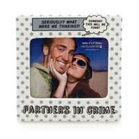 Enesco Our Name Is Mud Partners In Crime Frame - 4.0 in. x 6.0 in. x 6.0 in.